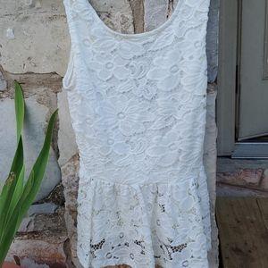 Pretty white lace tank blouse